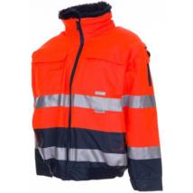 PLAN HV COMFORT Téli kivehető ujjú pilóta dzseki narancs-s.kék S-8XL