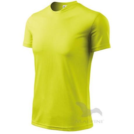 ADLER 124 Fantasy rövid ujjú környakas férfi póló neon sárga S-2XL-ig