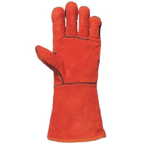 EP 2633 Szikra és hőálló piros marhahasíték CO hegesztő kesztyű kevlárral varrva 10-es