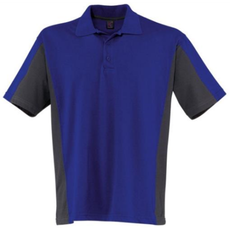 KÜ Shirt Pique póló 5019 búzavirágkék-antracit XS-4XL-ig