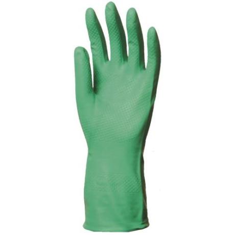 EP 5507-10 Nitrillel mártott zöld háztartási kesztyű 32/0,4mm 7-10-ig