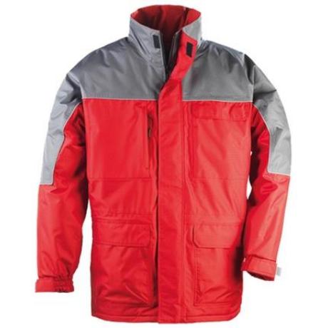 COVER Ripstop kabát piros-szürke S-3XL