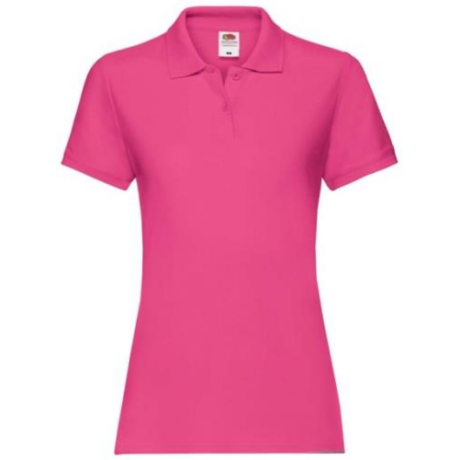 FoL Ladies Prémium rövidujjú ingnyakas női póló fuchsia XS-2XL-ig
