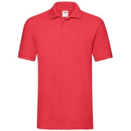 FoL Prémium rövidujjú ingnyakas férfi póló red S-2XL-ig