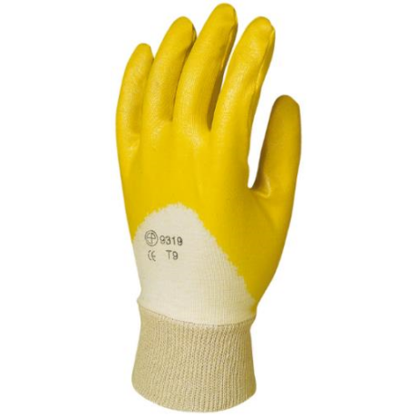 EP 9317-20 Varott ökölcsontig mártott sárga NITRIL kesztyű ECO 7-10-ig