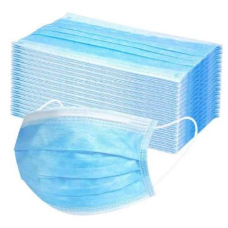 KET Három rétegű eü. szájmaszk 50db/csomag (csomag ár)