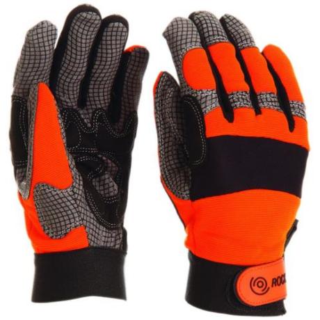 MO MKNDP Mechanikai kesztyű narancssárga kézhát M-XL-ig