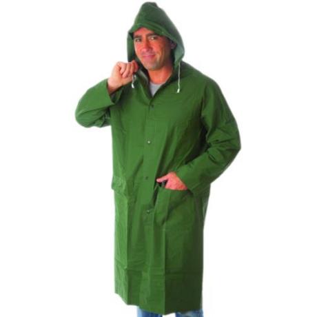 MO RLCG Hosszított PVC esőkabát kapucnival zöld M-3XL-ig