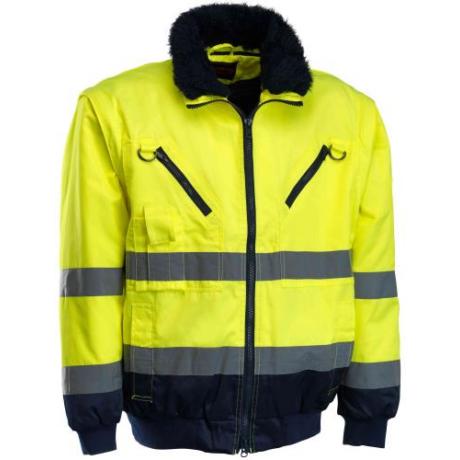 MO ROCK DISCOVER-Y (RPIHV-Y) Jól-láthatósági 3 az 1-ben pilóta dzseki sárga-s.kék S-5XL