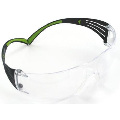 3M SECUREFIT Víztiszta szemüveg zöld szárral