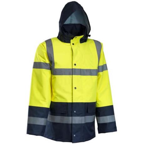 MO TR466 ROCK Jól-láthatósági téli kabát sárga-s.kék S-5XL-ig